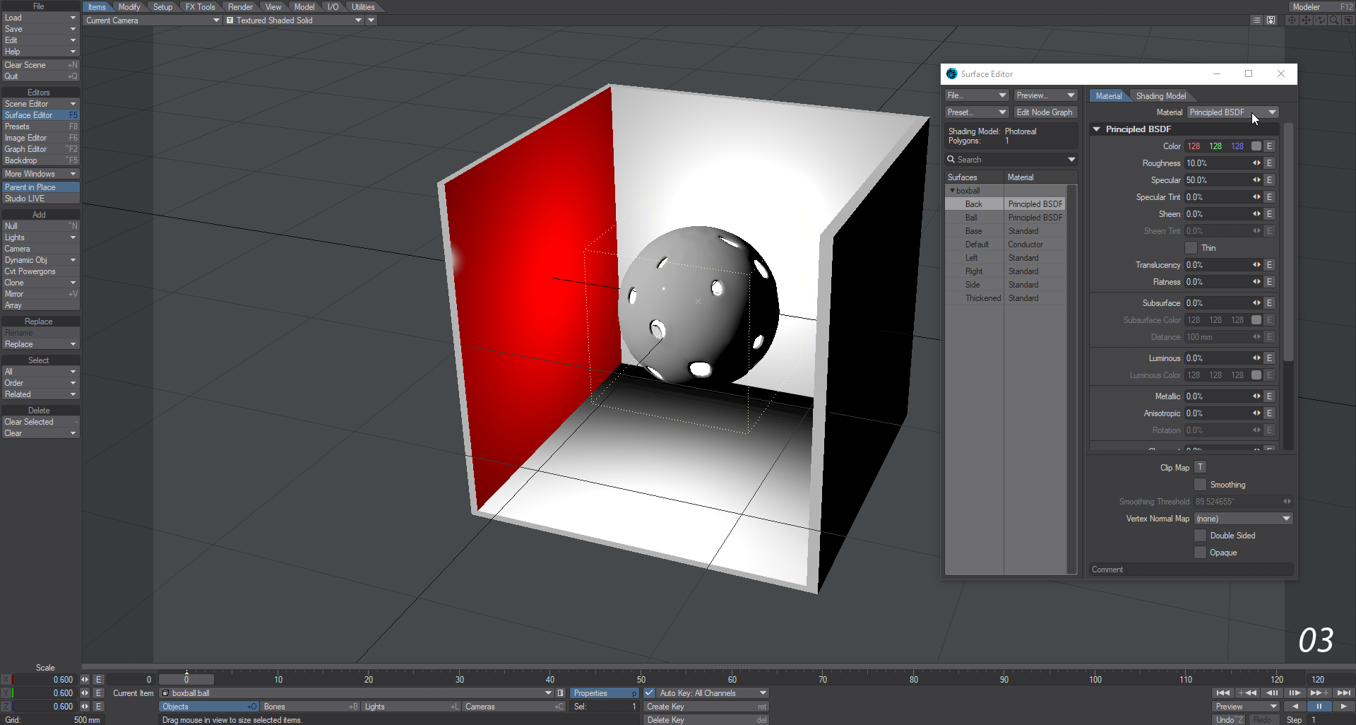 Example - Adding an Image with Nodes - LightWave 2019